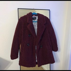 Fuzzy fashion nova trench coat